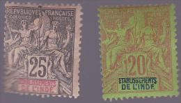 INDE : Y&T : 7 à 8* - Inde (1892-1954)