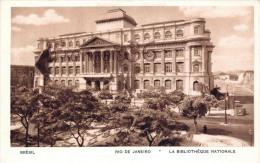 Brésil Brazil - Rio De Janeiro - La Bibliothéque Nationale - 2 SCANS - Brésil