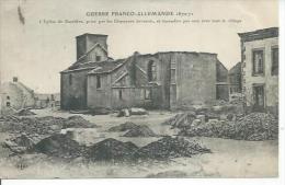 L'EGLISE DE BAZEILLES, PRISE PAR LES CHASSEURS BAVAROIS, ET INCENDIE PAR EUX AVEC TOUT LE VILLAGE - France