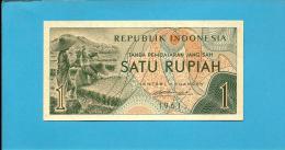 INDONESIA - 1 Rupiah - 1961 - P 78 - UNC. - Série GOG - Rice Field Workers  - 2 Scans - Indonésie