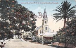 Bermuda Bermudes - Victoria Street And A.M.E. Church, Hamilton - 2 SCANS - Bermudes