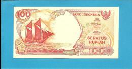 INDONESIA - 100 Rupiah - 1992/1994 - P 127.c - UNC. - Série AGH - Sailboat PINISI / Volcano ANAK KRAKATAU  - 2 Scans - Indonésie