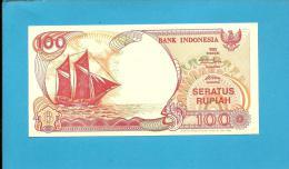INDONESIA - 100 Rupiah - 1992/1999 - P 127.g - UNC. - Série PLT - Sailboat PINISI / Volcano ANAK KRAKATAU  - 2 Scans - Indonésie
