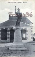 (19) Saint St Privat - Statue De La République - 2 SCANS - Autres Communes