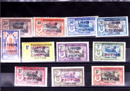 INDE : Y&T : 68 à 78* - India (1892-1954)