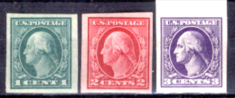 Stati-Uniti-0058 -1916/1917 - Unificato, N.322/324 (++) MNH - Privi Di Difetti Occulti. - Unused Stamps