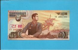 KOREA, NORTH - 10 WON - 1998 - P 41.s - UNC. - SPECIMEN - 2001383 - 2 Scans - Korea, North