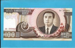 KOREA, NORTH - 100 WON - 1992 - P 43 - UNC. - Kim II Sung - 2 Scans - Korea, North