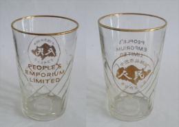 VINTAGE ! Singapore 50 S' People's Emporium Ltd 人民百货有限公司 Gold Ri - Glasses