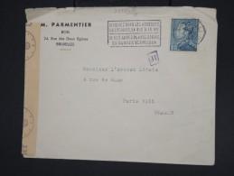 BELGIQUE- Enveloppe De Bruxelles Pour Paris En 1944 Avec Controle Et Censure Allemande - à Voir - Lot P7784 - Belgium