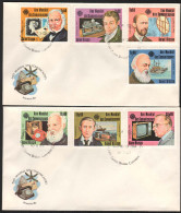 1983, GUINEA BISSAU. COMMUNICATIONS YEAR FDC SET. MORSE, ROWLAND HILL, SHIP, TELEPHONE BELL, MARCONI, TELEVISION. - Guinea-Bissau