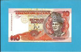MALAYSIA - 10 RINGGIT -  ND (1989 ) - P 29A - UNC. -  Sign. Datuk Jaafar Hussein - Printer BABN - King T. A. Rahman - Malasia