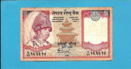 NEPAL - 5 Rupees - ND 2005 - P 53 - Sign. 16 -  King Gyanendra Bir Bikram - Népal