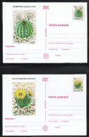 Rumänien 1997,  6 Ganzsachen, Weißes Papier, Kaktus / Romania 1997, 6 Stationaries, White Paper, Cactus - Sukkulenten