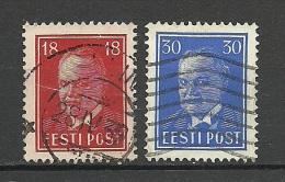 Estland Estonia Estonie 1939 Präsident Konstantin Päts Michel 146 -147 O - Estland