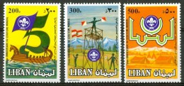 1983 Libano Lebanon Scout Scouting Scoutisme Set MNH** Ul10 - Liban