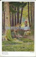 12461 ART ARTE SIGNED KUBEL STORY FOR KIDS LITTLE RED RIDING HOOD POSTAL POSTCARD - Andere