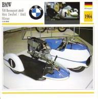 BMW 500 Rennsport Attelé  (1964)   -  Max Deubel/Emil Horner  -  Fiche Technique/Carte De Collection - Motociclismo