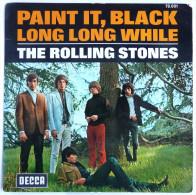 Disque Vinyle 45T THE ROLLING STONES - PAINT IT, BLACK - DECCA 79001 - 1966 BIEM - Rock