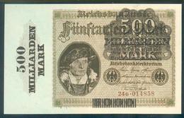 Deutschland, Germany - 500 Mrd. Mark, Reichsbanknote, Ro. 121 B,  ( Serie 24 G ) UNC, 1923 ! - [ 3] 1918-1933 : Repubblica  Di Weimar