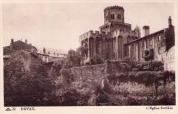 CPA:   ROYAT (Dpt.63):  L'église Fortifiée.    (A 1324) - Royat