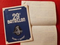29 BATAILLON 1953 BULLETIN DE LIAISON  MILITAIRE - Documenti