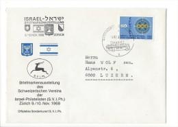 12673 -  Lettre Cover  Israel-Philatelisten Zürich 1968 Pour Luzern 09.11.1968 - Suisse