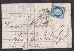France N°60 Oblitéré Valenciennes 1876 - TB - 1871-1875 Cérès