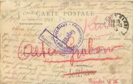CACHET MILITAIRE CENSURE GUERRE PRISONNIER ALTENGRABOW MUNSTER - Guerra De 1914-18