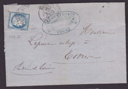 France N°60B - Type II Sur Lettre - TB - 1871-1875 Cérès