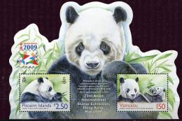 "(cl. 8 - P52) Vanuatu ** Bloc N° 65 (ref. Michel Au Dos) -  ""Hong Kong 2009"" Pandas - - Vanuatu (1980-...)"