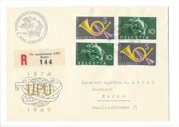 12680 -  Lettre  75e Anniversaire UPU Berne 27.05.1949 Recommandée - Storia Postale