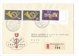 12681 -  Lettre  100 Jahre Post Schweizerrisches PTT Museum 1849-1949 Bern Recommandée - Switzerland