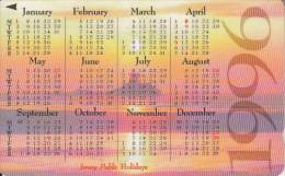 JERSEY ISL. - Calendar 1996, CN : 42JERD(normal 0), Tirage %20000, Used - United Kingdom