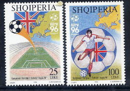 ALBANIA 1996 European Footnall Championship Set Of 2   MNH / **.  Michel 2591-92 - Albania