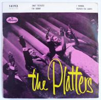 Disque Vinyle 45T LES PLATTERS - ONLY BECAUSE -  MERCURY 14193 - 1957 BIEM - Rock