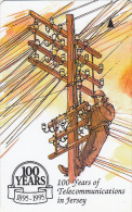 JERSEY ISL.(GPT) - 100 Years Of Telecommunications In Jersey 3, CN : 36JERC(0 With Barred), Tirage %23900, Used