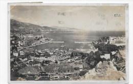 (RECTO / VERSO) MONACO EN 1934 - N° 141 - VUE GENERALE PRISE DES JARDINS EXOTIQUES - BEAU CACHET ET TIMBRE DE MONACO - Monte-Carlo