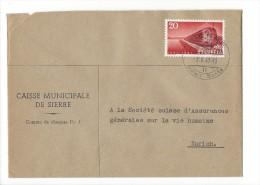 12686 -  Lettre Caisse Municipale De Sierre Pour Zürich 03.10.1947 - Suisse