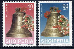 ALBANIA 2000 Millennium Set Of 2  MNH / **.  Michel 2720-21 - Albania