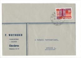 12687 -  Lettre  F. Wutrich Horlogerie Radios Chexbres Pour Zürich 28.04.1958 - Suisse