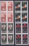 Saar1955:Blocks Of 4 Mnh** Michel357-360 - Sarre