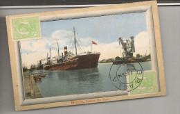 CPA NAVIRE Non Identifie Dans Le Port De Braila Romania Circulée Timbres Cachets - Comercio