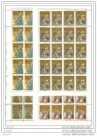 1987 Vaticano Vatican S. AGOSTINO 20 Serie Di 4v. In Foglio MNH** Sheets - Nuovi