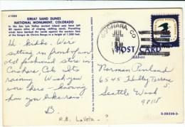 Sc#1396, US Postal Service Stamp, Sand Dunes National Monument Colorado C1970s Vintage Postcard - United States