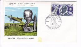 Enveloppe Premier Jour 1er FDC Robert Esnault Pelterie 1967 Le Bourget N° 601 (legère Tache) - 1960-1969