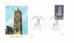 Enveloppe Premier Jour 1er FDC Rodez 1967 N° 602 - 1960-1969