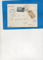 MARCOPHILIE-lettre Avion-Recommandée--SP 86159   1958 POSTES AUX ARMEES-afft 65FRS évian  -pour Françe - War Of Algeria