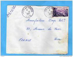 MARCOPHILIE-lettre Avion-   1957 Poste Aux Armées -afft  TpFrançe 20frs Martinique -pour Françe - Marcophilie (Lettres)