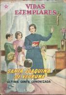 12495 MAGAZINE REVISTA MEXICANAS COMIC VIDAS EJEMPLARES SANTA JOAQUINA DE VEDRUNA Nº 70 AÑO 1960 ED ER NOVARO - Boeken, Tijdschriften, Stripverhalen